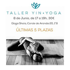 Taller de yin yoga en Gioga - Yowe Yoga